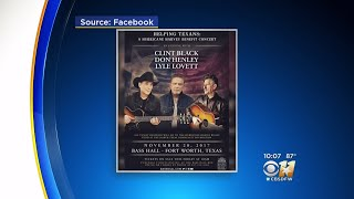 Don Henley, Lyle Lovett, Clint Black Plan Harvey Benefit