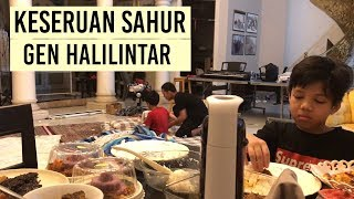 SAAIH BANGUNKAN SAHUR SIRAM AIR FATEH MUNTAZ & LOUD SPEAKER