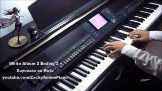 White Album 2 Ending 3 - Sayonara no Koto - Piano Transcription