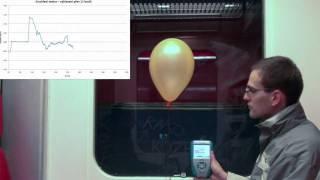 Pouťový balónek v metru
