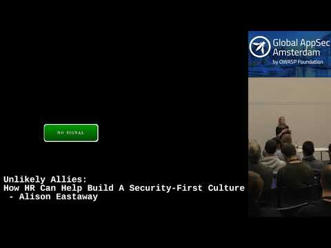 Unlikely Allies: How HR Can Help Build A Security-First Culture - Alison Eastaway