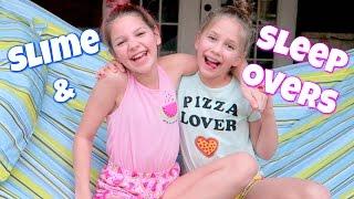 Slime Sleepover! Hope's vlogs