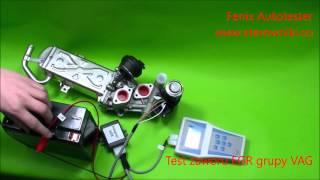 Test zaworu EGR VAG- EGR valve test VW, Audi, Skoda, Seat 1.6 2.0 TDI