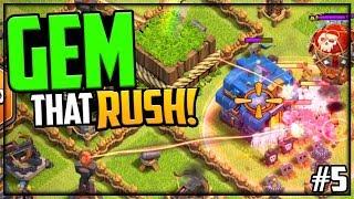 TROLL Base vs HUNDREDS of Goblins! Clash of Clans GEM That Rush #5