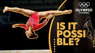 Landing a Gymnastics Beam Front Flip With A Full Twist (ft. Laurie Hernandez) | Is It Possible?