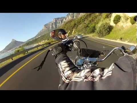 Tim Charody on a Harley in Cape Town