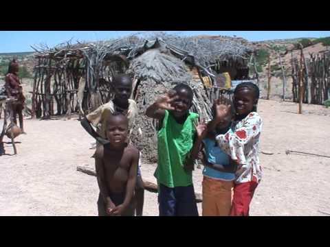 Himbia Children wave goodbye