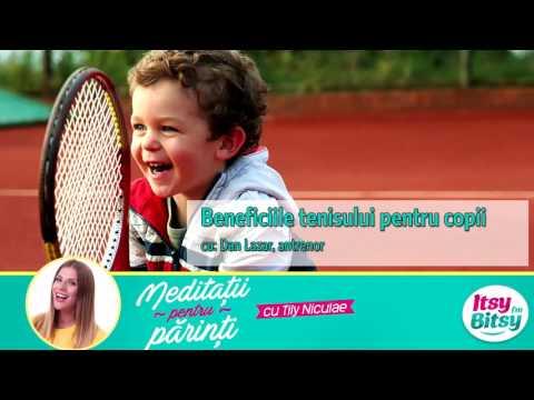 Beneficiile tenisului pentru copii