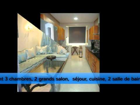 Location d'un Très jolie Appartement Meublé sur HAY RIAD —Agence Baddou Action Immo—