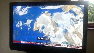 BBC weather expert swears accidentally on live TV!