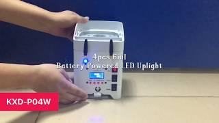 KXD P04W LED Par 4pcs 6in1 Battery Powered LED Uplight For Wedding
