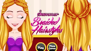 Summer Braided Hairstyle- Fun Online Hairstyle Games for Girls Kids Teens