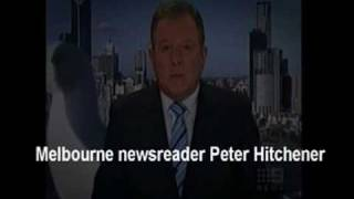 Seagull strolls behind newsreader,  added sound