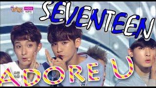 [Hot Debut] SEVENTEEN - Adore U, 세븐틴 - 아낀다, Show Music core 20150606