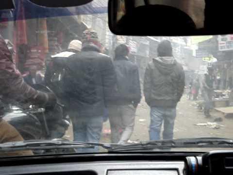 Conduite chaotique dans Kathmandu