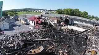 Aerial aftermath of Green Dragon market fire