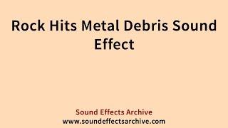 Rock Hits Metal Debris Sound Effect - Royalty Free