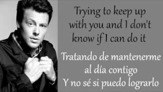 Glee: Losing My Religion (Lyrics + Español)