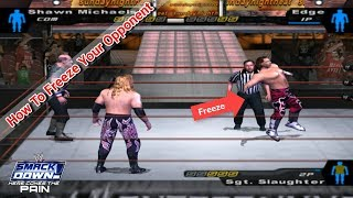How To Freeze Your Opponent In WWE SD! HCTP 2003