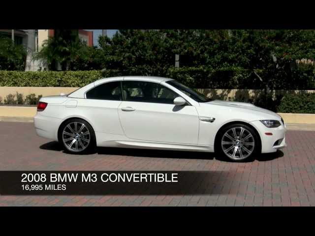 2008 BMW M3 Alpine White Convertible