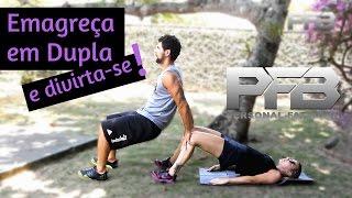 Exercícios em dupla para emagrecer e perder barriga - Personal Fat Burn