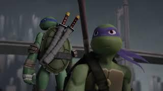 TMNT 2012 Turtles Saving Serpent Karai