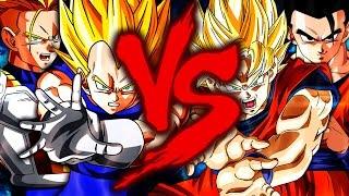 Goku e Gohan VS Vegeta e Trunks | Duelo Imortal