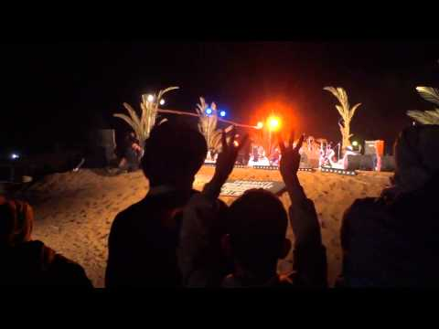 Guys with turbans dancing in Taragalte Festival 2012 – part 3, Mhamid Sahara Morocco