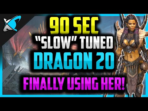 90 SEC *SLOW* Tuned Dragon Runs | Stage 20 | RAID: Shadow Legends