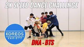 [Koreos Variety] S2 E2 - 2X Speed Challenge: BTS (방탄소년단) DNA (Male ver.)