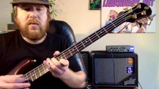 Rock Strumming:  A Bass lesson everyday # 264