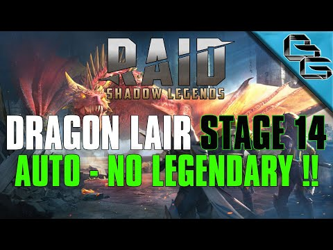 RAID: Shadow Legends | Dragon's Lair Stage 14 on Auto | NO LEGENDARY!! | F2P