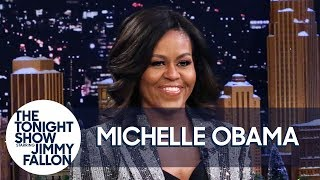 Michelle Obama on Taming Barack Obama's Tardiness Live With Jimmy Fallon