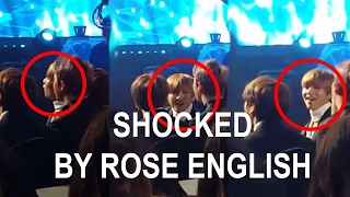 BTS Reaction to BLACKPINK ROSÉ Speaking english @GaonChartKpopAwards 2017