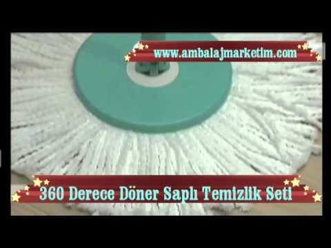 360 Derece Döner Saplı Temizlik Seti