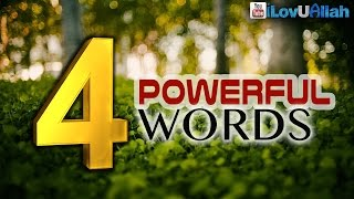 4 Powerful Words ᴴᴰ   Mufti Menk
