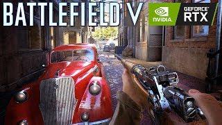 Battlefield V RTX 2080ti Gameplay (No Hud) - Incredible Graphics Realism