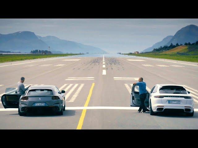 The LATE BRAKING Challenge: Ferrari vs Porsche | Top Gear: Series 26