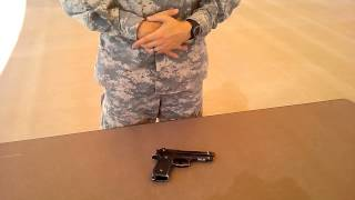Beretta M9 Disassembly Combat Speed