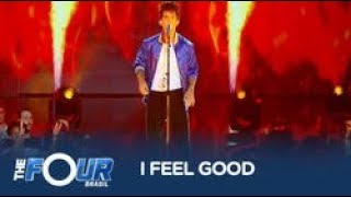 Arthur Olliver encara primeira batalha ao som de I Feel Good, de James Brown