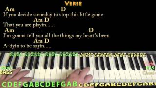 Spooky (Dusty Springfield) Piano Cover Lesson in Am with Chords/Lyrics