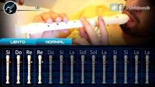 """Cómo tocar """"Himno de la Alegría"""" en Flauta (HD) Tutorial - Christianvib"""