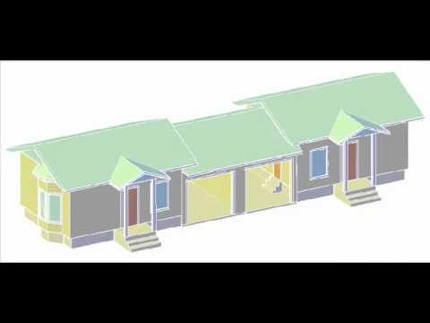 """""""Economy Duplex"""" Floor Plan and Animation"""