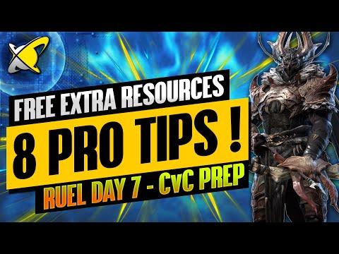 8 TIPS TO GET EXTRA RESOURCES !! | Ruel The Huntmaster Day 7 | BGE's Guides | RAID: Shadow Legends