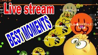 Agar.io LIVE STREAM BEST MOMENTS! Popsplit!