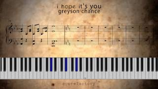 How to play: Greyson Chance new song 2013: I Hope It's You - (Song Snippet only) - on piano | Sheets