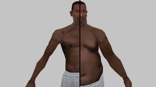 GTA SA - CJ's body transformation in real time