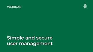 Webinar   Simple and secure user management Logo