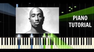 2Pac - Changes - Piano Tutorial / Cover - Synthesia