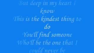 i love you goodbye celine dion with lyrics